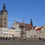 ČB-náměstí-Samsonova kašna, Černá věž a katedrála sv Mikuláše